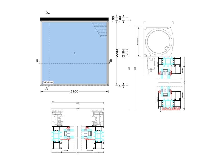 FIXscreen 100 MS4 Doorsnede