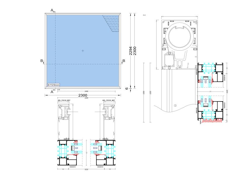 FIXscreen 100 MS7 SLIM Doorsnede